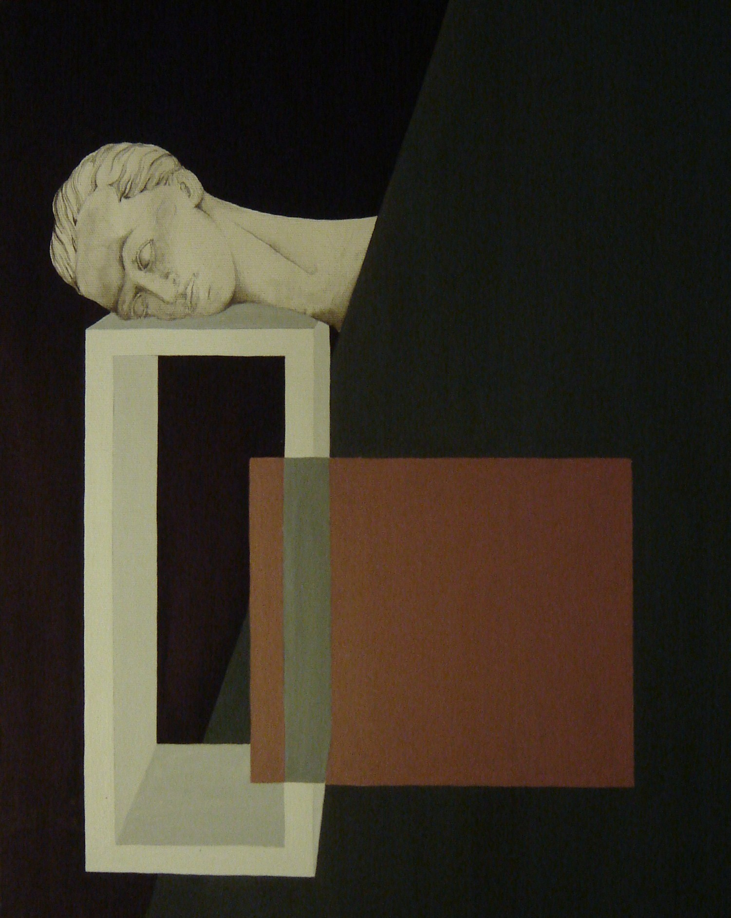 Kamil Emanuel Klonowski, Św. Jan Chrzciciel (Manieryzm polski), 40 x 50 cm, tusz i tempera jajowa na płótnie